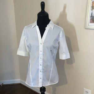 White button down shirt - new